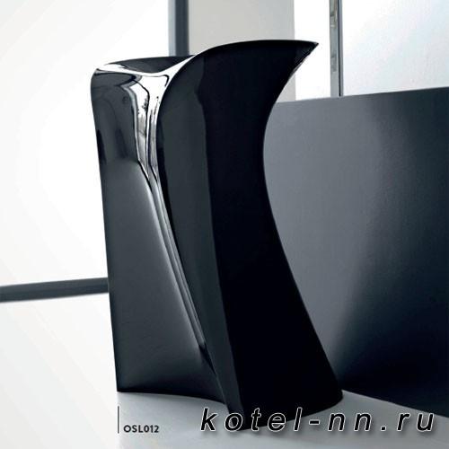 Раковина напольная свободностоящая Artceram Miss 57х58х88 см, с сифоном, слив. без отв под смеситель, цвет черный