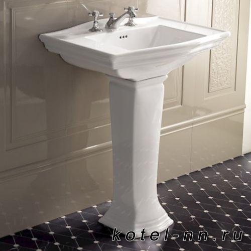 Раковина на пьедестале Devon&Devon Westminster 53,5х38,5 см с 1 отверстием под смеситель, цвет: белый