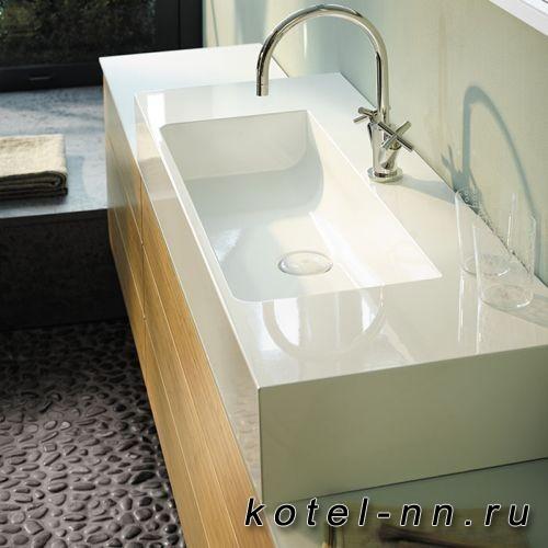 Раковина Burgbad Crono 121x50 см, с 1 отв., цвет белый