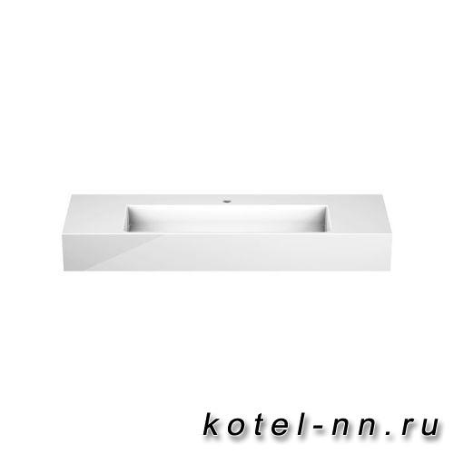 Раковина Burgbad Crono 121x42 см, с 1 отв., цвет белый