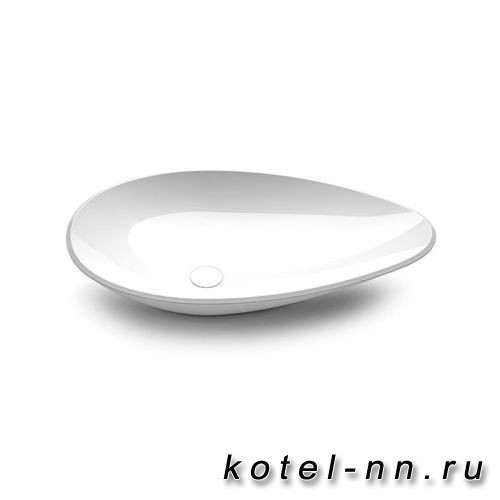 Раковина накладная Burgbad Crono 77x45 см, цвет белый