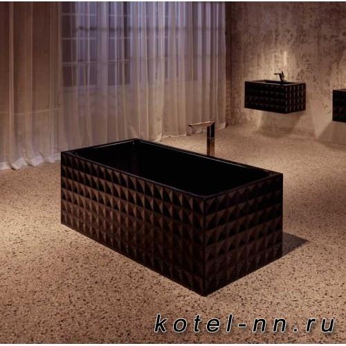 Ванна отдельностоящая стальная прямоугольная BETTE Loft Ornament  1810х810х420мм, цвет черный
