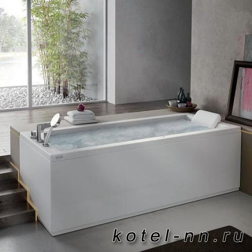 Ванна акриловая прямоугольная Jacuzzi Energy 180x80 Base 180х80хh57см, гидромассажная, DX, смеситель. без панелей, цвет: белый/хром