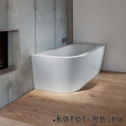 Ванна с шумоизоляцией стальная угловая Bette Starlet V Silhouette 185х85х42 см, с покрытием Glaze Plus, белая