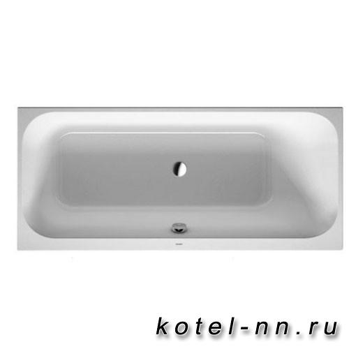 Ванна акриловая прямоугольная Duravit Happy D.2 1700х700 мм, встраиваемая версия, с наклоном для спины справа, цвет белый