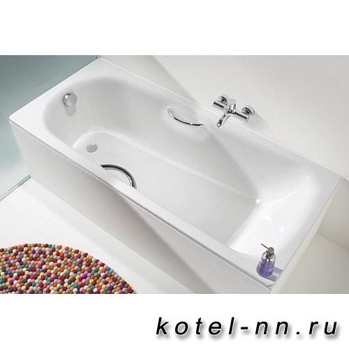 Стальная ванна прямоугольная Kaldewei Saniform Plus Star пустая Мод.336 170x75 белый+отв.под ручки+anti-slip