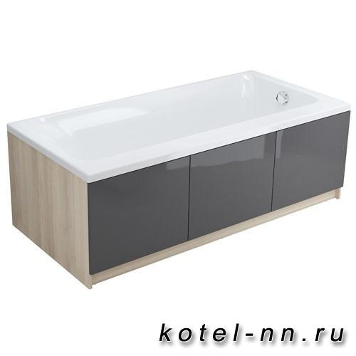Акриловая ванна прямоугольная Cersanit smart 170 левая
