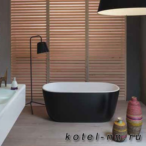 Каменная ванна овальная Balteco Xonyx Azur 140 белая изнутри, цветная снаружи