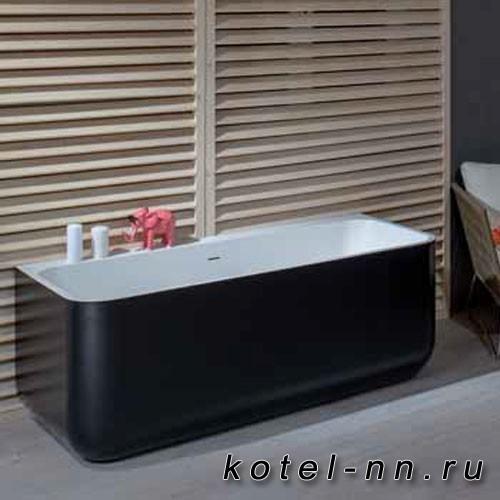 Каменная ванна прямоугольная Balteco Xonyx Gamma 160 белая изнутри, цветная снаружи
