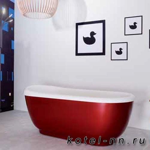 Каменная ванна овальная Balteco Xonyx Vero белая изнутри, цветная снаружи