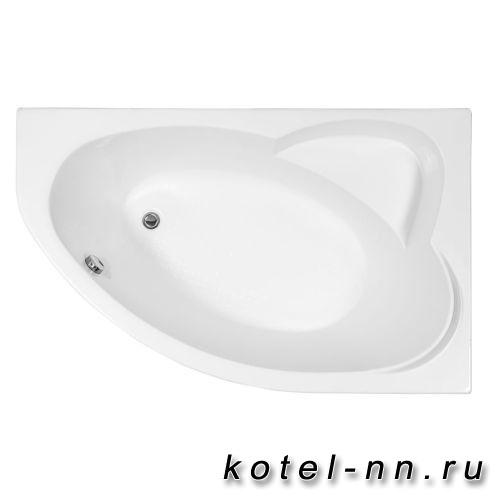 Акриловая ванна угловая Aquanet Sarezo 160x100 R без гидромассажа