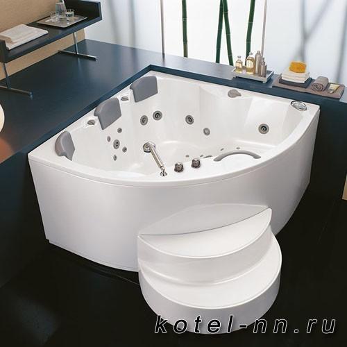 Акриловая угловая ванна Kolpa-San Gaia 160, встраиваемая