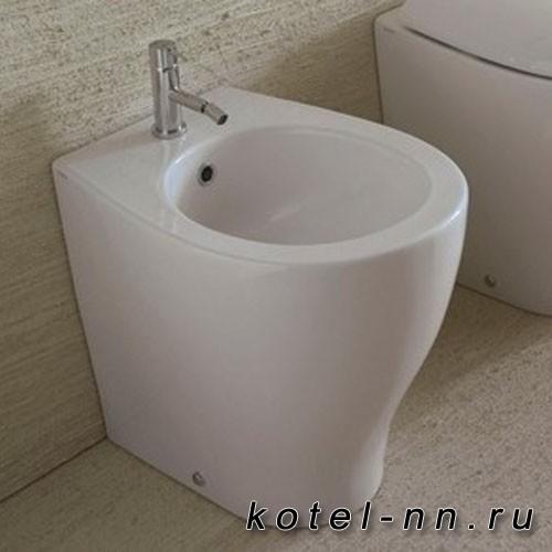 Биде Globo 4ALL напольное 54*36см, с 1 отв. под смеситель, с системой скрытого крепежа, цвет белый