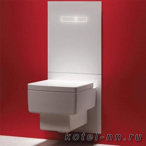 Комплект TECElux для установки унитаза-биде TOTO, GEBERIT, с верхней панелью 430?555?16 мм, с механическим блоком управления стекло цвет белый, клавиши хром