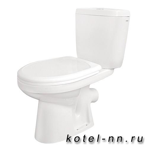 Унитаз напольный Santek Анимо, диагон.выпуск, 2 режима, soft-close