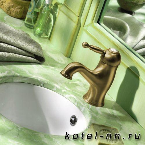 Смеситель однорычажный для раковины Cisal Arcana Royal на 1 отверстие с донным клапаном, цвет бронза