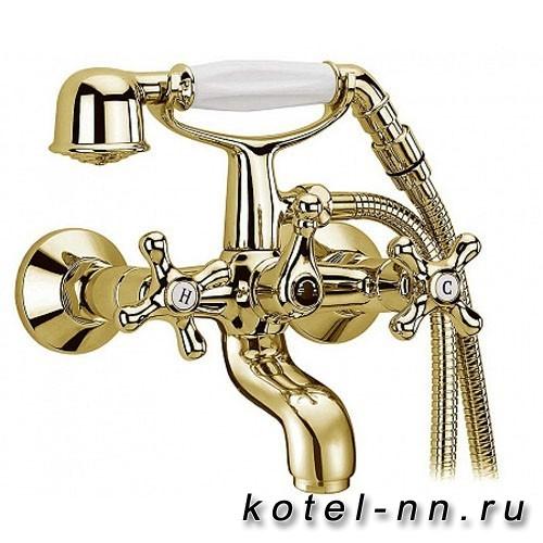 Смеситель для ванны Cezares с ручным душем, цвет золото
