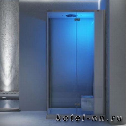Душевая кабина Jacuzzi Cloud 140 Home spa, 140x90xh220см, Dx, термостатный смеситель, раздвижная дверь, цвет: белый/хром