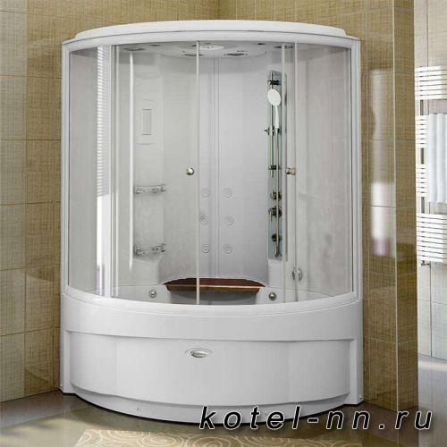 Душевая кабина Radomir Даниэла, комплектация 2 140x140 прозрачные шторки
