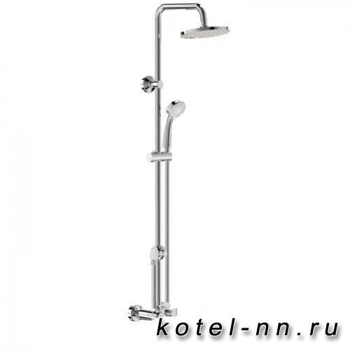 Душевая система Vidima Баланс ВА270АА со смесителем ванна/душ: верхний душ 200мм, ручной душ 3-функц., поворотный излив