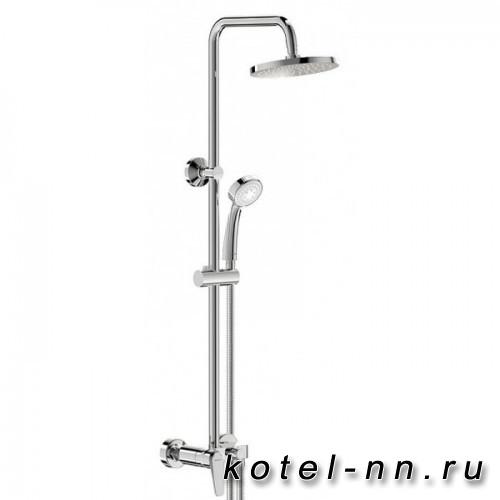 Душевая система Vidima Баланс ВА271АА с душевым смесителем: верхний душ 200мм, ручной душ 3-функц.