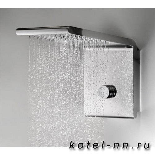 Душевая панель Bossini Syncro Rain 450х200 мм, 3 режима (переключение при помощи дивертеров), хром