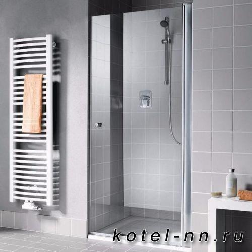 Душевая дверь Kermi Atea 1TR 470х1850, серебро, стекло зеркальное