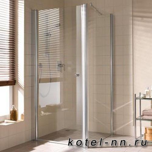 Душевой угол Kermi Atea 1WL+TWR 1000x900хH1850, серебро, прозрачное стекло