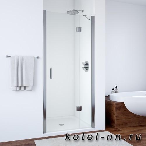 Душевая дверь Vega Glass, одностворчатая распашная с неподвижным элементом