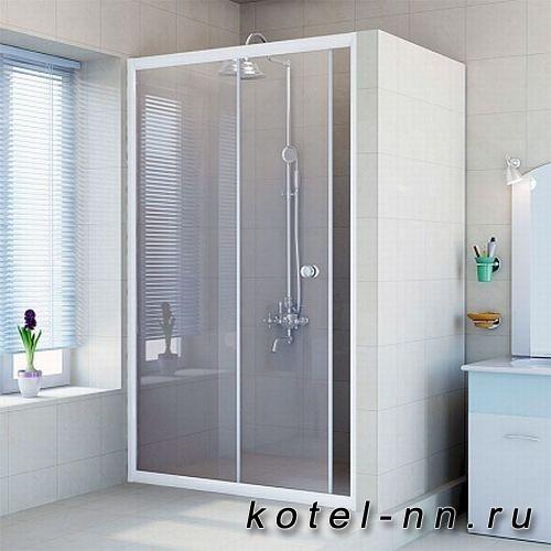 Душевая перегородка Radomir 160 см с дверью, прозрачная