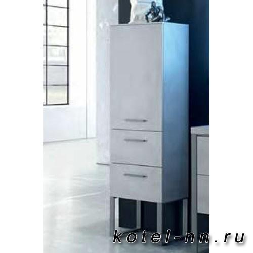 Шкаф-колонна Pelipal Solitaire 9025, подвесной 1210х450х330 мм, 1 вращ дверь,2 выдв отсека, 2 стекл полки, петли слева, цвет темно-серый 723/651