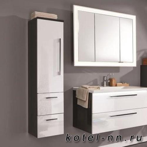 Средний шкаф Puris левый (1 дверь, 2 ящика) 1301*300*300