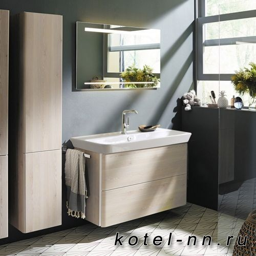 Комплект мебели Burgbad Iveo с раковиной 1000 мм, цвет дуб меринос