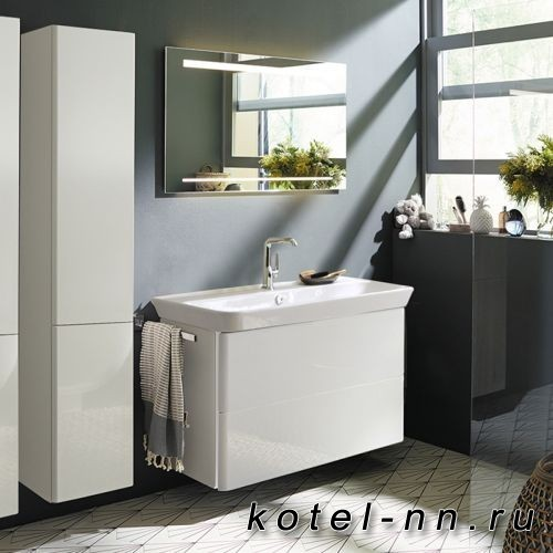 Комплект мебели Burgbad Iveo с раковиной 1000 мм, цвет белый глянец