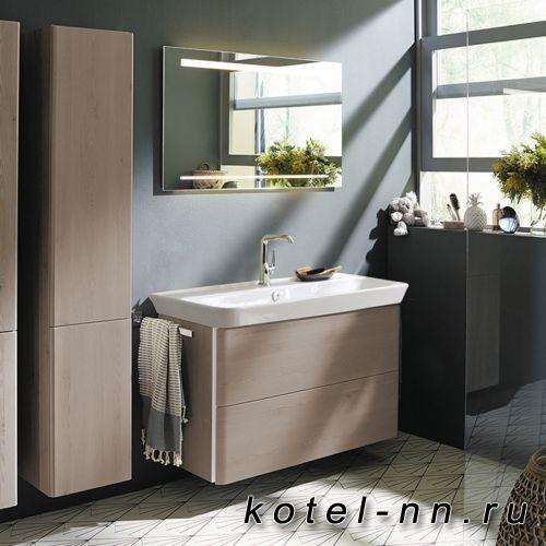 Комплект мебели Burgbad Iveo с раковиной 1000 мм, цвет фланелевый дубовый
