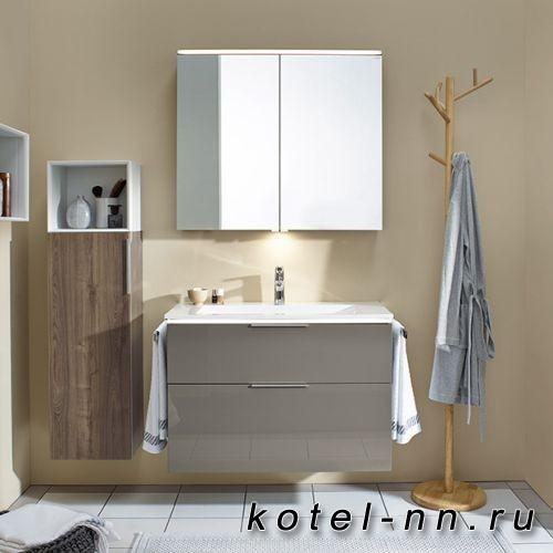 Комплект мебели Burgbad Eqio с раковиной 930 мм, цвет серый глянец