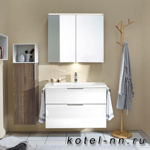Комплект мебели Burgbad Eqio с раковиной 930 мм, цвет белый глянец