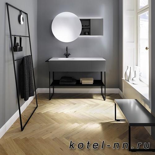 Комплект напольной мебели Burgbad Coco 120x50x87 см, цвет серый