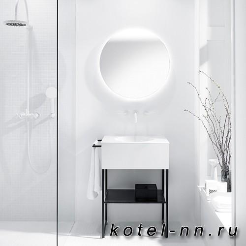 Комплект напольной мебели Burgbad Coco 60x50x87 см, цвет белый