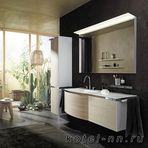 Комплект подвесной мебели Burgbad Yso 158x49x45 см, цвет белый глянец/аутентичный дуб