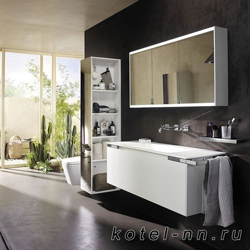 Комплект подвесной мебели Burgbad Yso 129.5x49x45 см, цвет белый матовый