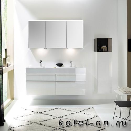 Комплект подвесной мебели Burgbad Yumo 131x47x64 см, цвет белый