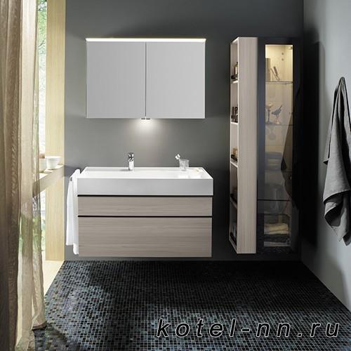 Комплект подвесной мебели Burgbad Yumo 100x47x64 см, карамельный дубовый