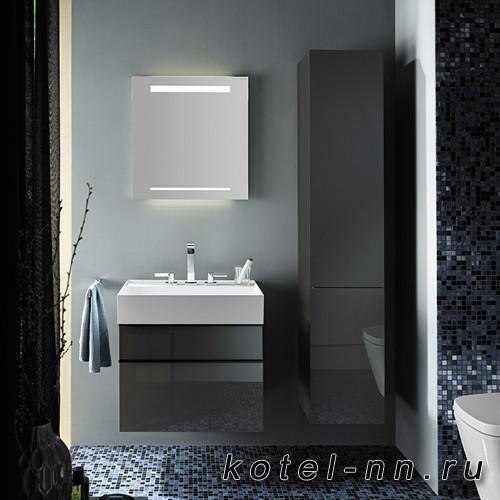 Комплект подвесной мебели Burgbad Yumo 66x47x64 см, серый