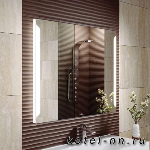 Зеркало Alavann Teneri 100 с антизапотевателем (LED-подсветка, кнопочный выключатель)