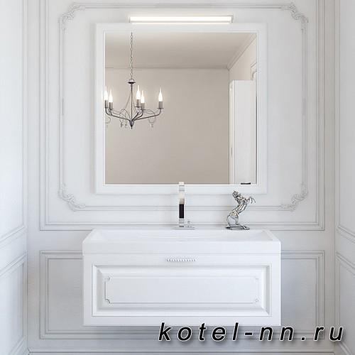 """Зеркало в раме Aqwella """"Империя"""", цвет белый Emp.02.10/W"""
