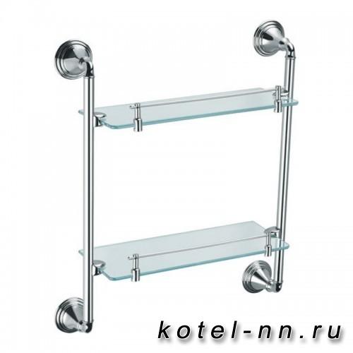 Полка стеклянная двухэтажная  Fixsen