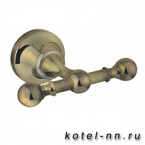 Двойной крючок для полотенец Cezares Olimp DHK, цвет бронза