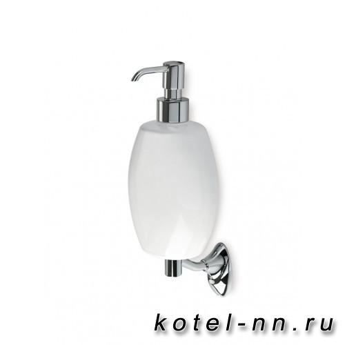 Дозатор Stil Haus настенный керамический белая керамика (10/9/25 см)
