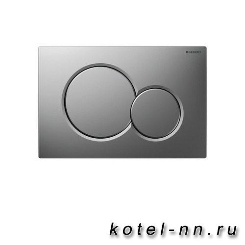 Клавиша смыва Geberit Sigma 01, двойной смыв, матовый хром